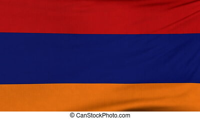 National flag of Armenia flying on the wind - National flag...