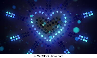 heart shape signboard flashing loopable - heart shape...