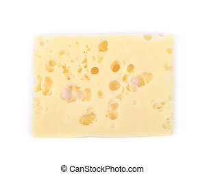 Single slice of cheese isolated