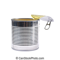 Canned corn in a tincan isolated - Canned corn in an opened...