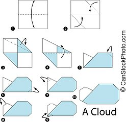 origami A Cloud. - step by step instructions how to make...