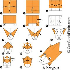 origami A Platypus. - step by step instructions how to make...