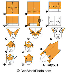 origami A Platypus - step by step instructions how to make...