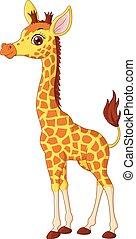 Little giraffe calf