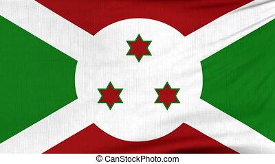 National flag of Burundi flying on the wind