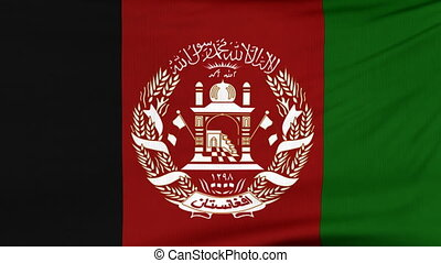 National flag of Afghanistan flying on the wind - National...