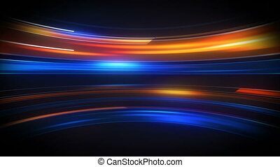 Glow light streaks high tech loopable background - Glow...