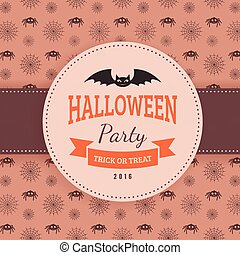 Bat and text block. - Halloween party background design. Eps...