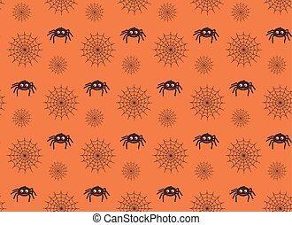 Spiders and web seamless pattern. - Halloween party...