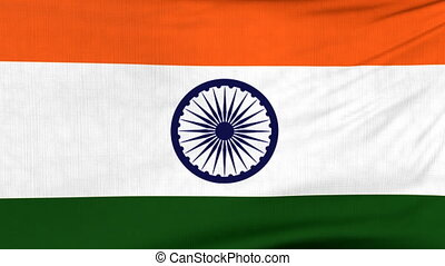 National flag of India flying on the wind - National flag of...