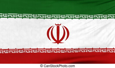 National flag of Iran flying on the wind - National flag of...