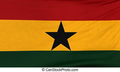 National flag of Ghana flying on the wind - National flag of...