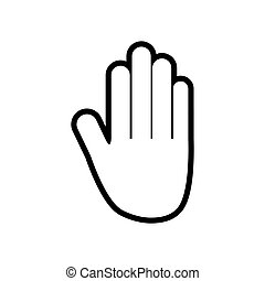 human hand gesture fingers icon. Vector graphic