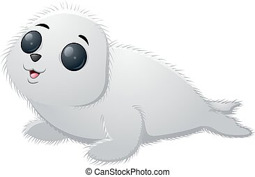Cartoon baby seal