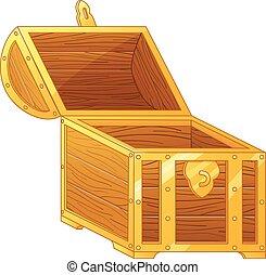 treasure box cartoon