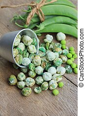 Green soybeans with coated