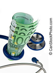 Cost F??? ? r ? and health with stethoscope