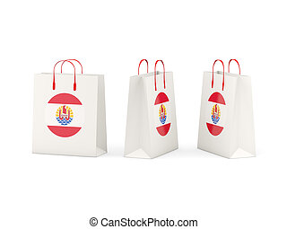 Flag of french polynesia on shopping bags - Round flag of...