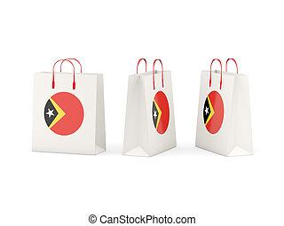 Flag of east timor on shopping bags - Round flag of east...