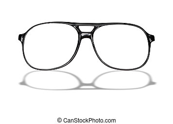 Eyeglasses - Black eyeglasses isolated on white background...