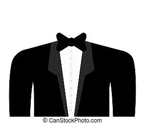 cloth suit necktie male man icon Vector graphic - cloth suit...