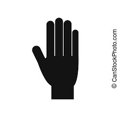 hand gesture palm fingers icon. Vector graphic