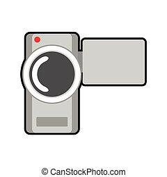 videocamera film movie cinema icon Vector graphic -...