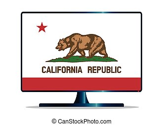 California Flag TV - A TV or computer screen with the...