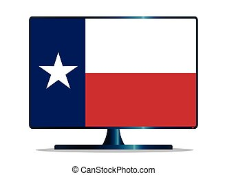 Texas Flag TV - A TV or computer screen with the Texas state...