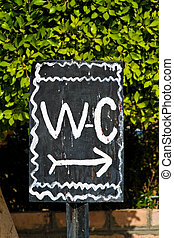 WC Shield - WC sign a public toilet