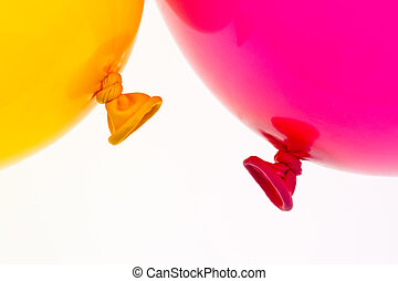 coloridos, balões, Símbolo, Leveza, liberdade,...