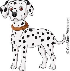 Dalmatian cartoon - Vector illustration of Dalmatian cartoon