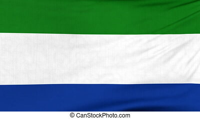 National flag of Sierra Leone flying on the wind - National...