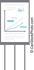 Whiteboard flipchart business presentation vector - Business...