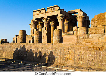 Egypt, Kom Ombo, Temple - The picturesque double temple of...