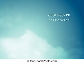 Abstract blue vector cloudscape background