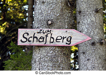 Mark on Schafberg in Rot-Weiss-Rot