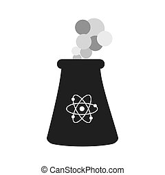 Nuclear plant atom smoke icon. Vector graphic - Nuclear...