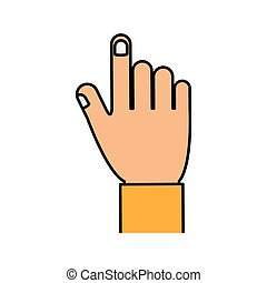 hand gesture fingers palm icon. Vector graphic