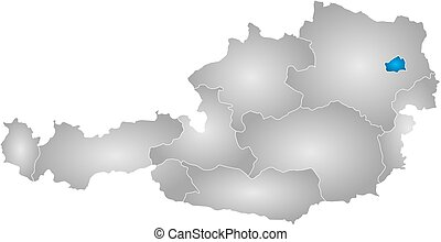 Map - Austria, Vienna - Map of Austria with the provinces,...