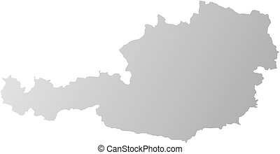 Map - Austria - Map of Austria, filled with a linear...