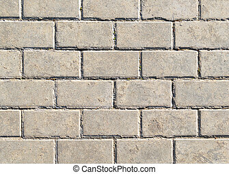 Background in form of gray masonry of lime sand brick -...