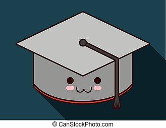Kawaii cartoon icon. School design. Vector graphic