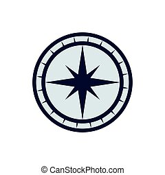 compass nautical direction star icon. Vector graphic