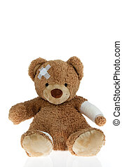 bad response status: 404 - Patient bear with bandage after...