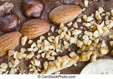 Background from sweet halva with nut - Beautiful background...
