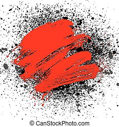 smudge and smear a brush, vector background, illustration...