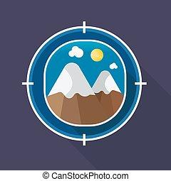 Vector illustration Mountain icon