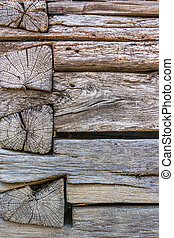 weathered wooden wall - old cracked weathered wooden wall