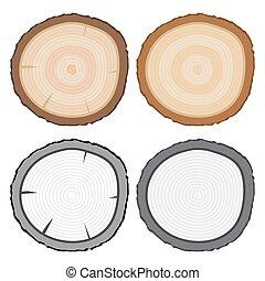 Tree Stump or Tree Rings Vector